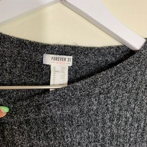 Girls grey dress with half sleeves
